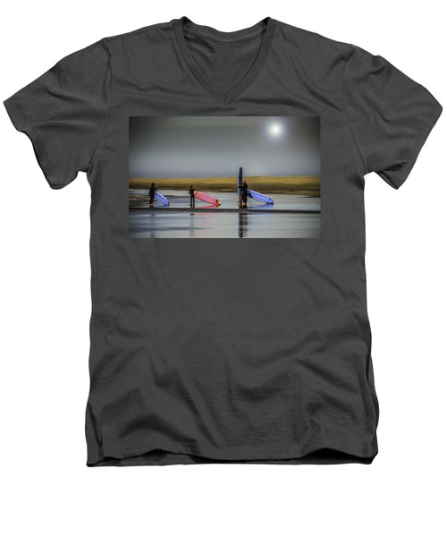 Waiting For The Surf Men's V-Neck T-Shirt