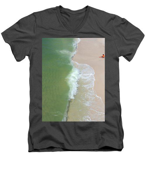 Waiting For The Wave Men's V-Neck T-Shirt
