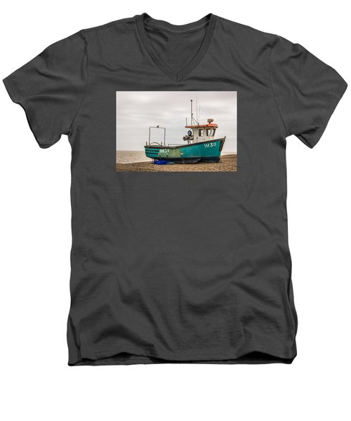 Waiting For Water Men's V-Neck T-Shirt by David Warrington
