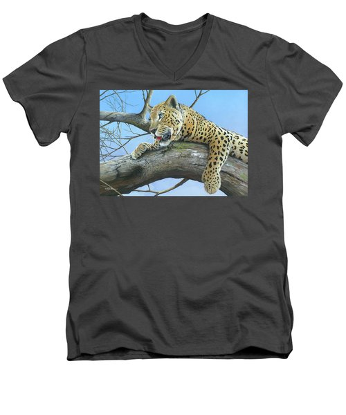 Waiting Game Men's V-Neck T-Shirt by Mike Brown