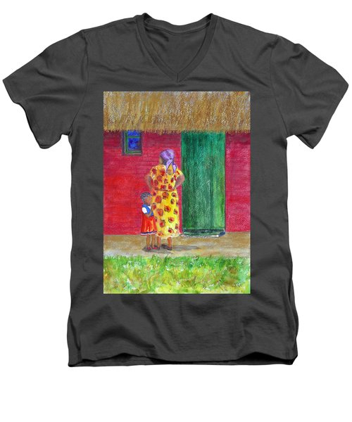 Waiting In Zimbabwe Men's V-Neck T-Shirt
