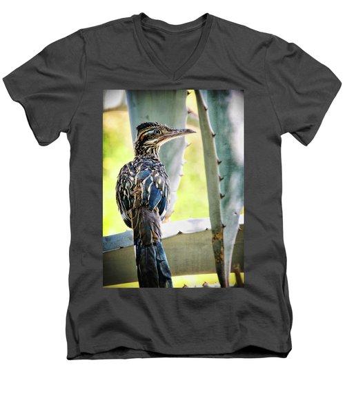 Waiting  Men's V-Neck T-Shirt by Saija  Lehtonen