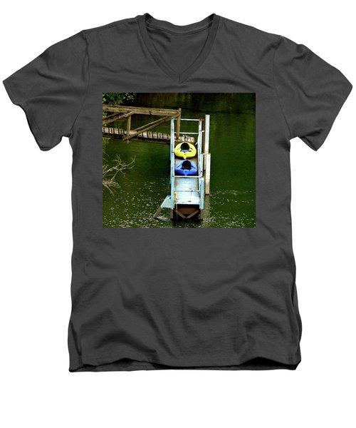 Waiting To Kayak Men's V-Neck T-Shirt