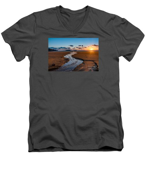 Wales Gower Coast Men's V-Neck T-Shirt
