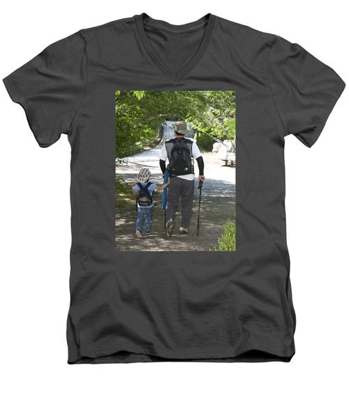 Walk Along Men's V-Neck T-Shirt