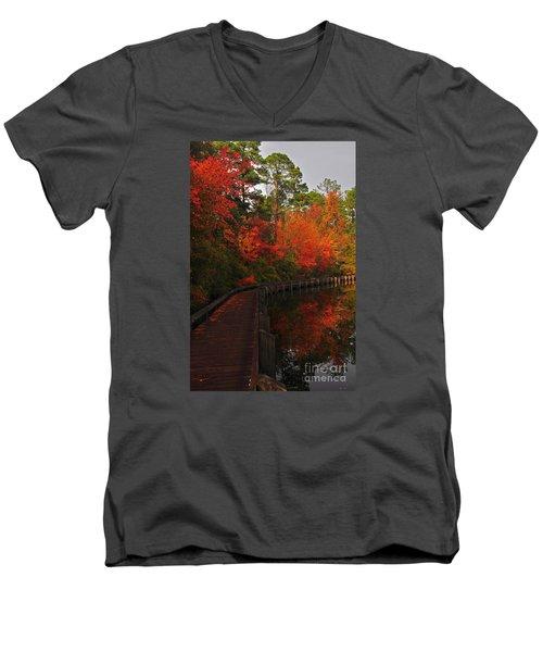 Walk Into Fall Men's V-Neck T-Shirt