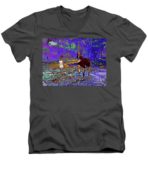 Walk The Enchanted Forest Men's V-Neck T-Shirt
