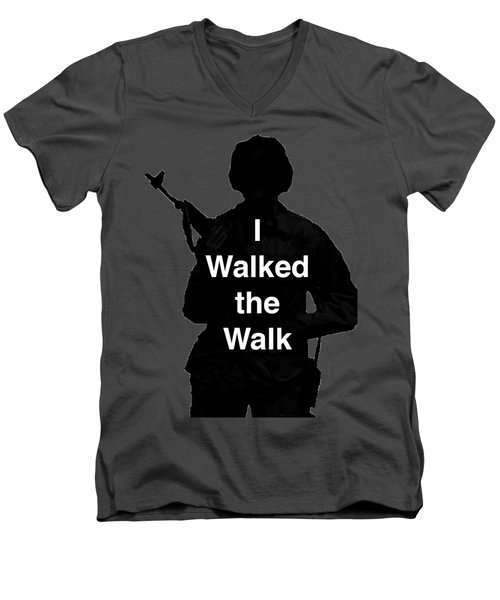 Men's V-Neck T-Shirt featuring the photograph Walk The Walk by Melany Sarafis