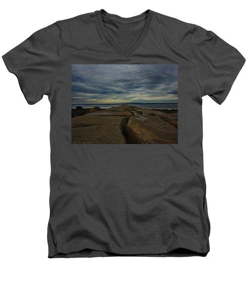 Walk To The Sea Men's V-Neck T-Shirt