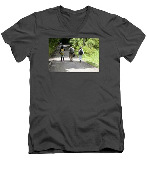 Walk Together Men's V-Neck T-Shirt