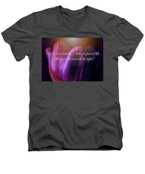 Walk Towards The Light Men's V-Neck T-Shirt