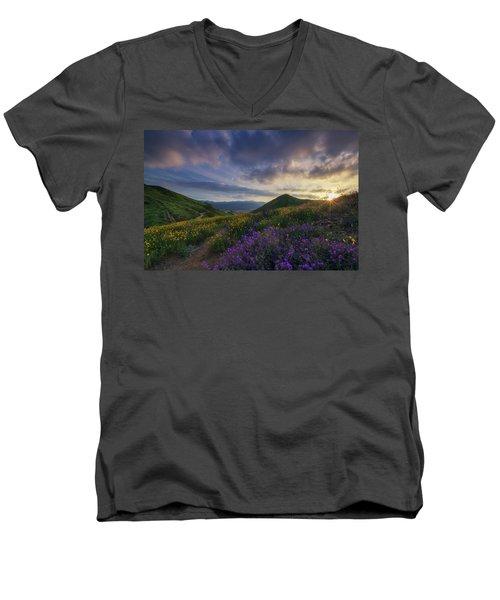 Walker Canyon Men's V-Neck T-Shirt by Tassanee Angiolillo