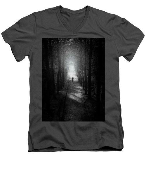 Walking Alone Men's V-Neck T-Shirt