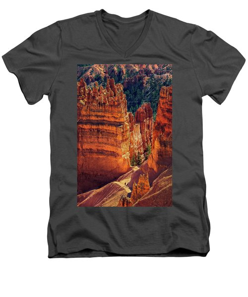 Walking Among Giants Men's V-Neck T-Shirt