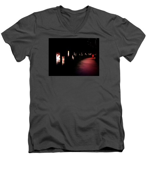 Men's V-Neck T-Shirt featuring the photograph Walking Among The Stories by Zinvolle Art
