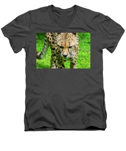 Walking Cheeta Men's V-Neck T-Shirt