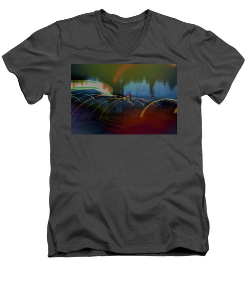 Walking In Carnival Lights Men's V-Neck T-Shirt