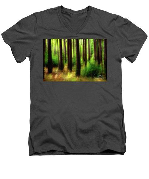 Walking In The Woods Men's V-Neck T-Shirt