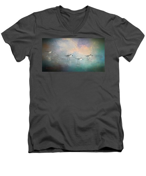 Walking Into The Sunset Men's V-Neck T-Shirt
