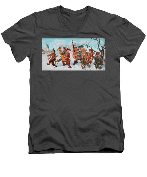 Walking Musicians Men's V-Neck T-Shirt