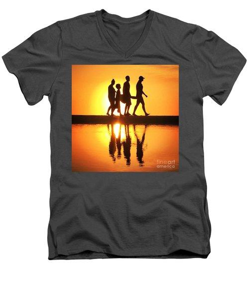 Walking On Sunshine Men's V-Neck T-Shirt by LeeAnn Kendall