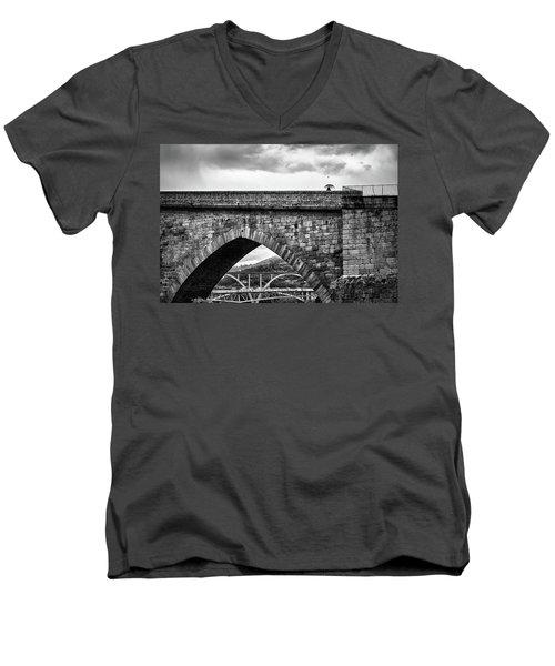 Walking On The Roman Bridge Men's V-Neck T-Shirt