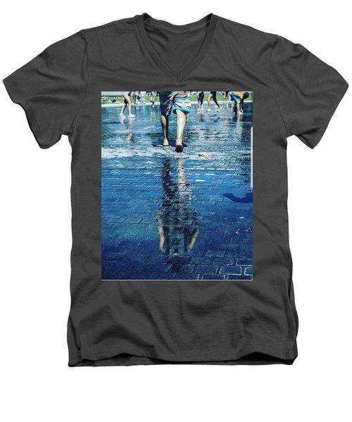 Walking On The Water Men's V-Neck T-Shirt