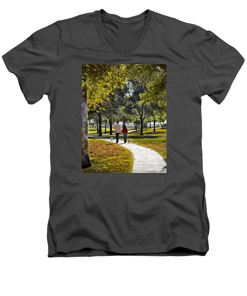 Walking Park Men's V-Neck T-Shirt