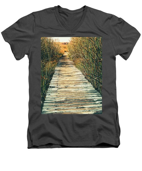 Men's V-Neck T-Shirt featuring the photograph Walking Path by Alexey Stiop