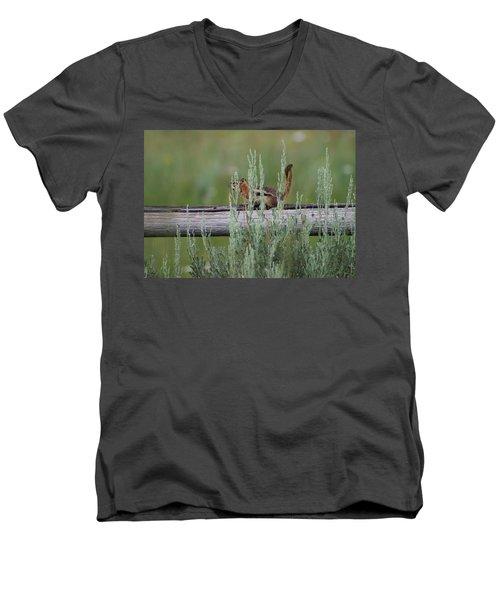 Walking The Line Men's V-Neck T-Shirt