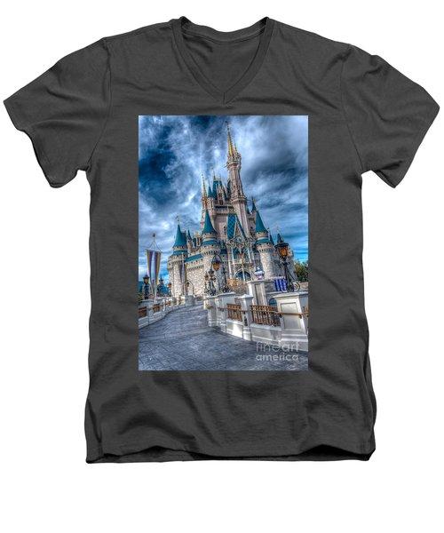 Walkway To Cinderellas Castle Men's V-Neck T-Shirt