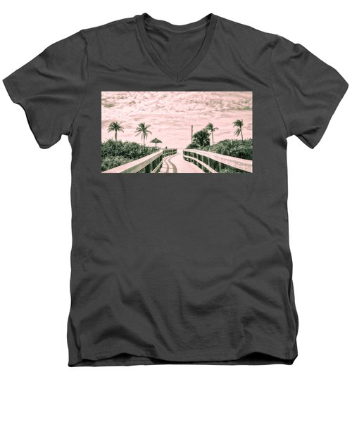 Walkway To The Beach Men's V-Neck T-Shirt by Robert FERD Frank