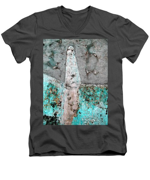 Wall Abstract 118 Men's V-Neck T-Shirt by Maria Huntley