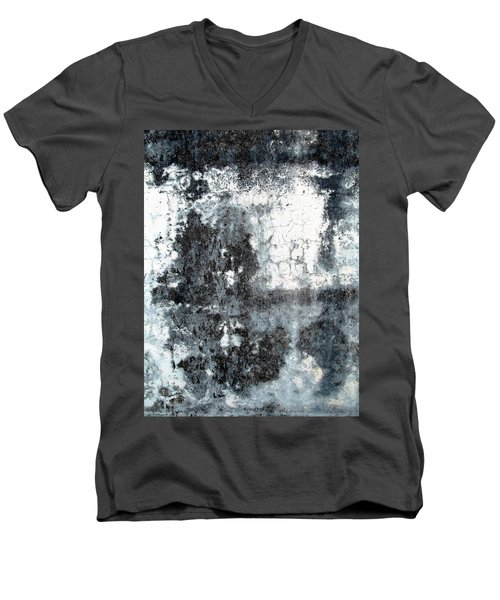 Wall Abstract 165 Men's V-Neck T-Shirt by Maria Huntley