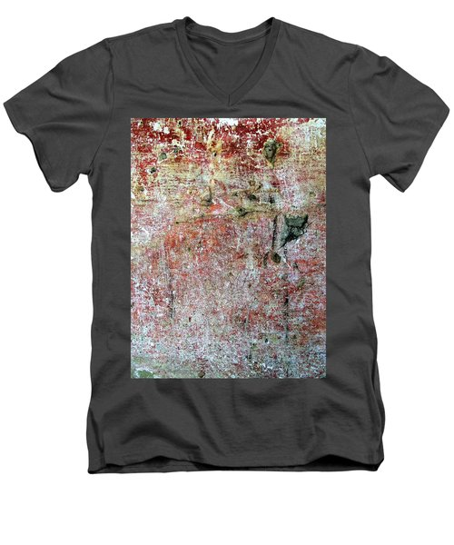 Wall Abstract 169 Men's V-Neck T-Shirt by Maria Huntley