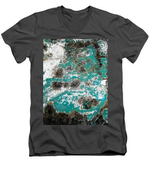 Wall Abstract 171 Men's V-Neck T-Shirt by Maria Huntley