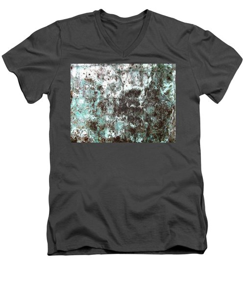 Wall Abstract 173 Men's V-Neck T-Shirt by Maria Huntley