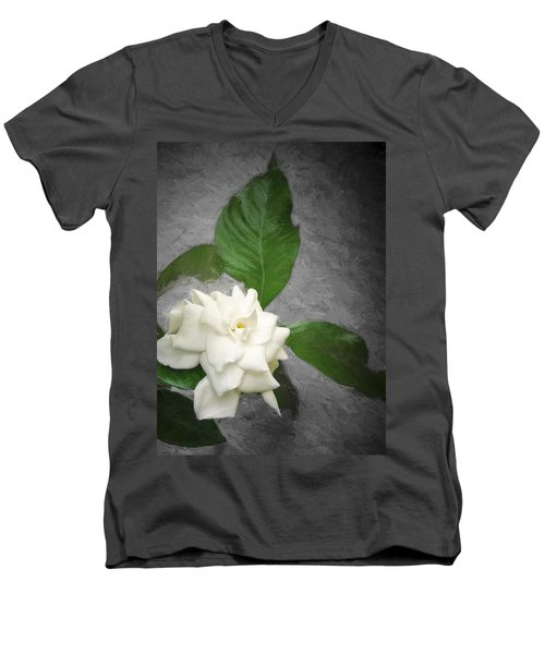 Men's V-Neck T-Shirt featuring the photograph Wall Flower by Carolyn Marshall