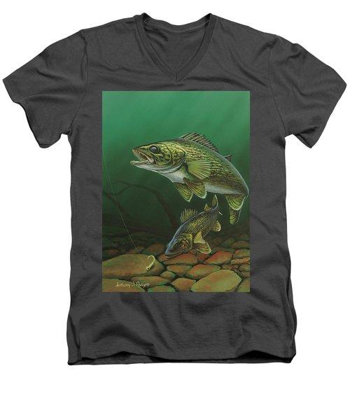 Walleye Men's V-Neck T-Shirt