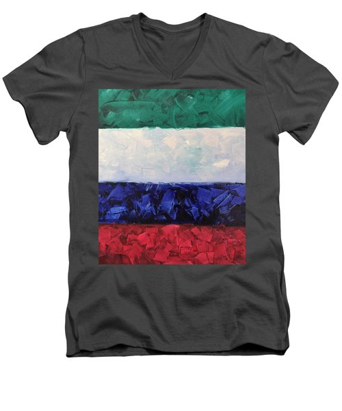 Walls Of The New Jerusalem Men's V-Neck T-Shirt