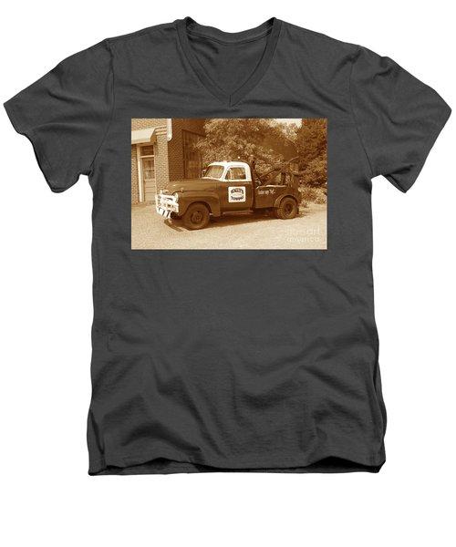 Wally Men's V-Neck T-Shirt by Eric Liller