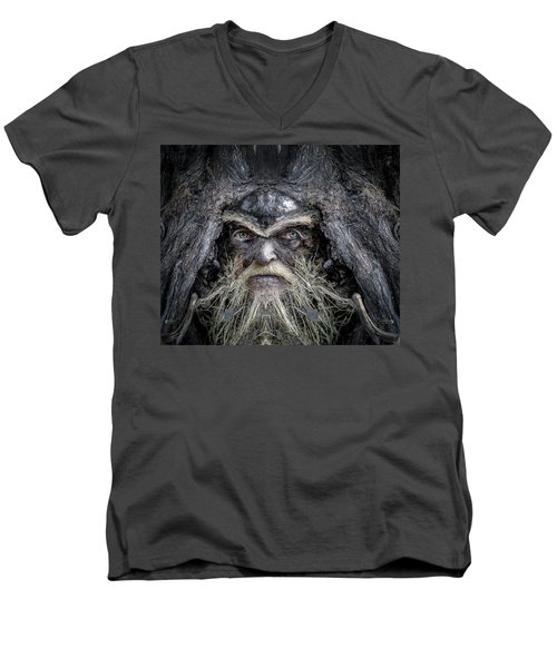 Wally Woodfury Men's V-Neck T-Shirt by Rick Mosher