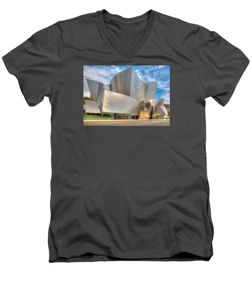 Walt Disney Concert Hall - Los Angeles Men's V-Neck T-Shirt by Jim Carrell
