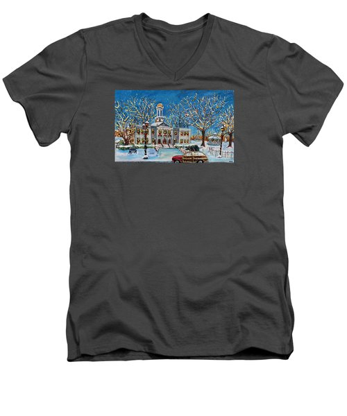 Waltham Common Shimmering Men's V-Neck T-Shirt by Rita Brown