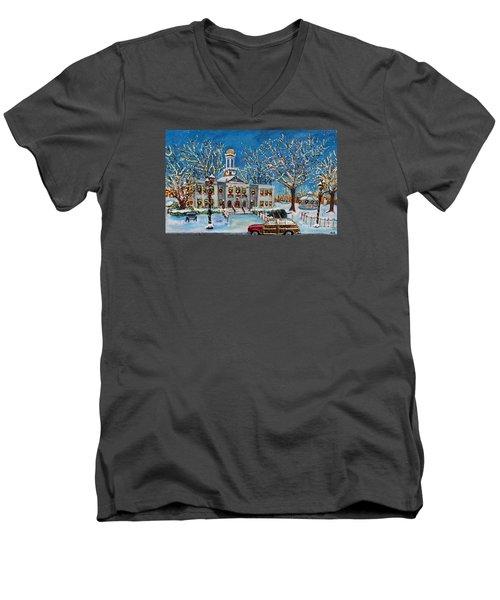 Waltham Common Shimmering Men's V-Neck T-Shirt