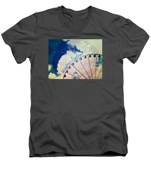 Wander And Explore Men's V-Neck T-Shirt by Robin Dickinson