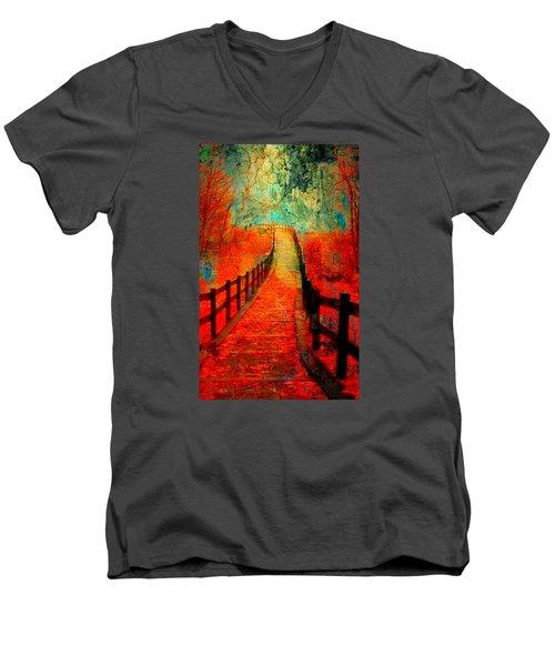 Wander Bridge Men's V-Neck T-Shirt