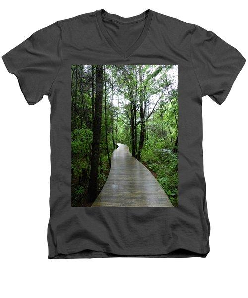 Wang Lang Nature Reserve, China Men's V-Neck T-Shirt