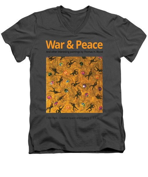 War And Peace T-shirt Men's V-Neck T-Shirt by Thomas Blood