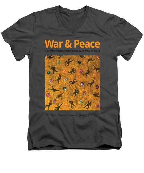 War And Peace T-shirt Men's V-Neck T-Shirt